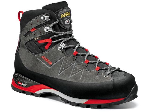 Asolo Traverse GV Zapatillas Hombre, gris/rojo